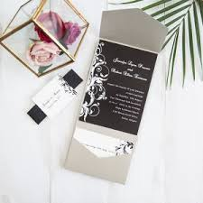 pocket wedding invitation affordable pocket wedding invitations invites at wedding