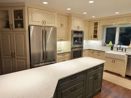 green and white transitional kitchen with square island hgtv