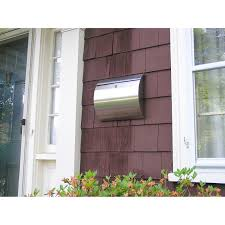 decorating paint wood siding with silver wall mount mailbox for