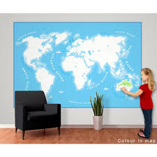 wall colour in world map wallpaper mural 1 58m x 2 32m