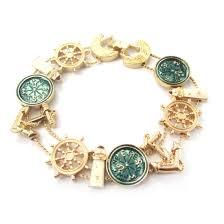 themed charm bracelet beautiful nautical themed anchor lighthouse compass charm bracelet