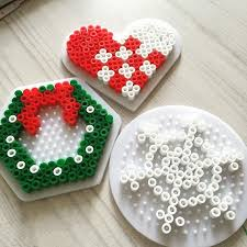 How To Make Christmas Ornaments Out Of Beads - christmas ornaments hama beads by nordiia christmas ornament