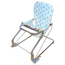 1950s taylor tot baby bouncer w abacus chrome aluminum chair