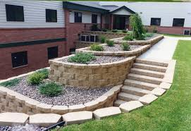 noticeable landscape stairs design with villa outdoor stairs