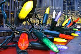 ornaments in midtown manhattan nyc stock photo