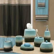 Light Blue And Brown Bathroom Ideas Teal And Brown Bath Accessories Welcome Industrial Gala Blue Bath