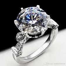 crown wedding rings vecalon fashion crown wedding ring for women cut 3ct