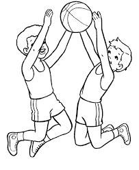 boys jump air basketball coloring boys jump