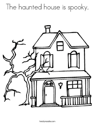 haunted house coloring coloring pages ideas