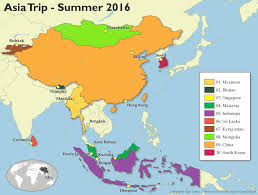 Trip Map Hello My Name Is Kate Summer Trip To Asia