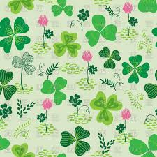 seamless hand drawn clover or trefoil pattern vector image 100799