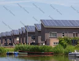 solar panel in row houses caliber green