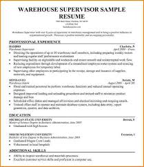 Warehouse Supervisor Resume Sample by Distribution Center General Manager Resume Www Iwiwatches Com