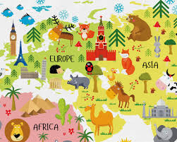 Children S Map Of The World by Baby Nursery World Map Canvas Nursery Canvas Wall Art