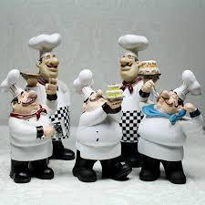 european cook ornaments creative resin chef statue restaurant bar