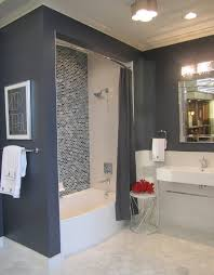 blue gray bathroom ideas the tile shop ceramic bath with glass backsplash and marble