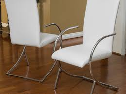 White Leather Dining Room Chair by Noteworthy Snapshot Of Dining Chairs White Tags Captivating