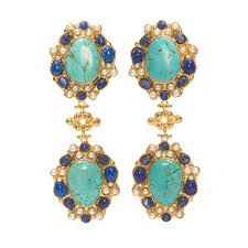 clip on earrings accessorize carlotta earrings turquoise christie nicolaides accessorize