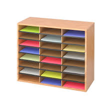 Desk Organizer Sorter by Wood Corrugated Literature Organizer 24 Safco Products