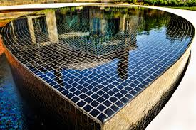 Waterfall Glass Tile Bedford Ny Glass Tile Pool U0026 Spa Cipriano Landscape Design And