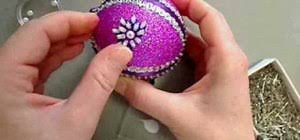 how to craft a purple sugar plum sequined ornament