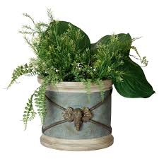 bombay outdoors lion wall planter a100049 the home depot