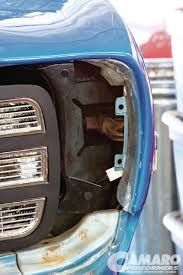 1969 camaro fender chevy camaro front grille rs conversion camaro performers magazine