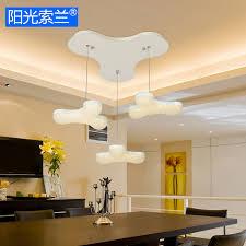 lustre pour bureau moderne led 21 w blanc acrylique 3 lustres pour chambre bar table