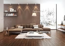 Wohnzimmer Mit Teppichboden Einrichten Modernes Wohnzimmer Braunes Sofa Schiebetür Essbereich Haus