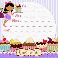 free printable party invitations free printable cupcake fairy