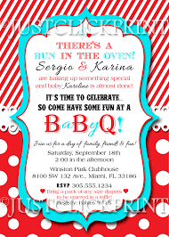 baby shower bbq invitations bun in the oven baby shower bbq