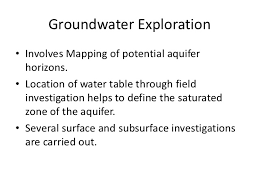Define Water Table Hydrogeology 408