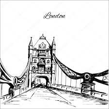 hand drawn london tower bridge u2014 stock vector naniti 92417934