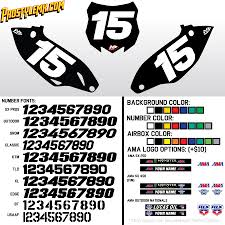 motocross jersey numbers solid custom number plate backgrounds pro style mx