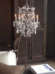 Floor Lamp With Crystals Chandelier Floor Lamp I Own This Floor Lamp And It Is So