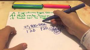6th grade proportion word problem 2 youtube