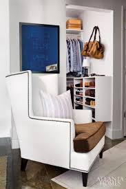 furniture mesmerizing closet decoration using grey stripe sofa