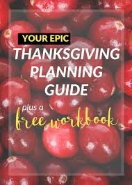 your epic thanksgiving planning guide a free workbook joyful