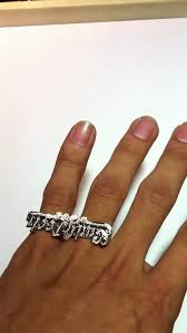 two finger name ring custom nameplate two finger ring made for someone special