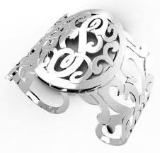 sterling silver monogram bracelet sterling silver monogram initial cuff bracelet personalized