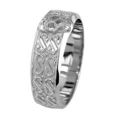 skull wedding rings mens wide skull wedding band ring with s pattern in 14k white