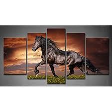 amazon live art decor large size running horse canvas wall