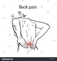 lumbar pain woman back pain human stock vector 406485310