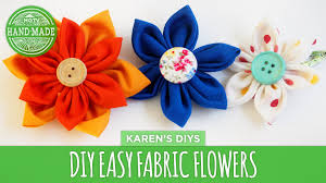 fabric flowers diy easy fabric flowers hgtv handmade