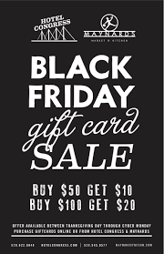 sale on gift cards black friday gift card sale hotel congress