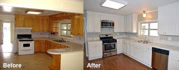 Painted White Kitchen Cabinets Before And After Gallery Best Kitchen Refinishing