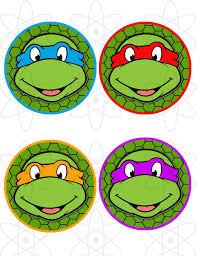 printable ninja turtle cupcake toppers