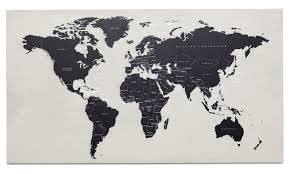 World Map Mexico by Gallery World Map Concrete Art Boconcept