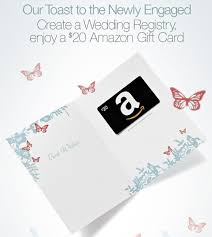 wedding gift card registry deal free 20 gift card with registry southern