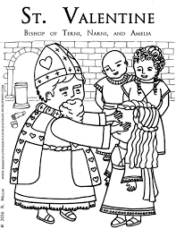 saint valentine bishop of terni coloring page u2013 immaculate heart